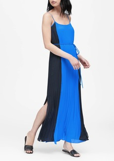 Banana Republic Color-Blocked Pleated Maxi Dress