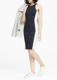 Banana Republic Color-Blocked Racer-Neck Sheath Dress