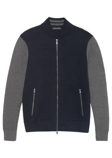 Banana Republic Color-Blocked Sweater Bomber