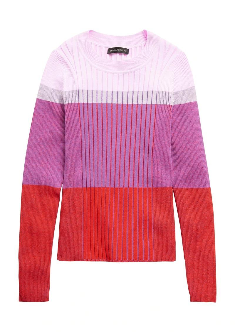 Banana Republic Color-Blocked Sweater Top