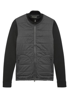 Banana Republic Combination Quilted Sweater Jacket