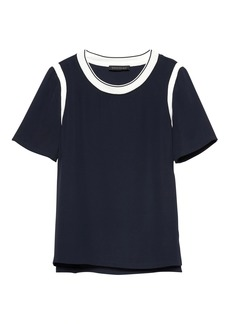 Banana Republic Contrast Trim Top
