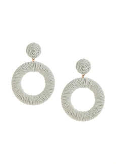 Banana Republic Cord Wrapped Circle Earrings