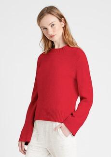 Banana Republic Cotton-Blend Bell-Sleeve Sweater