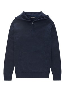 Banana Republic Cotton Half-Zip Sweater Hoodie