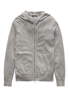 Banana Republic Cotton-Linen Full-Zip Sweater Hoodie