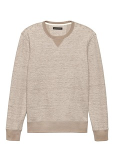 Banana Republic Cotton-Linen Long-Sleeve Sweatshirt