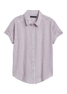 Banana Republic Cotton-Linen Roll-Cuff Shirt