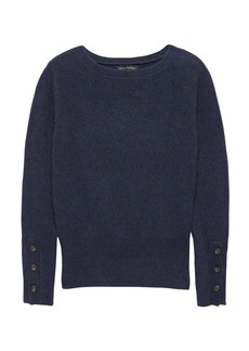 Banana Republic Cotton-Merino Wool Blend Boat-Neck Sweater
