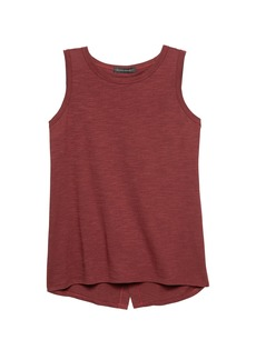Banana Republic Cotton-Modal Blend Split-Back Tank