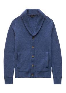Banana Republic Cotton Shawl-Collar Cardigan Sweater