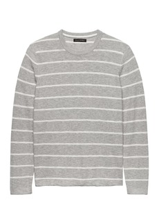 Banana Republic Cotton Stripe Crew-Neck Sweater