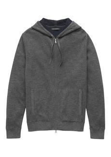 Banana Republic Cotton Textured Full-Zip Sweater Hoodie