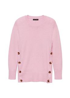 Banana Republic Cotton-Wool Blend Button-Side Sweater
