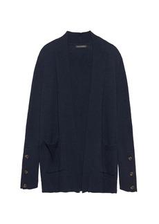 Banana Republic Cotton-Wool Blend Open Cardigan Sweater