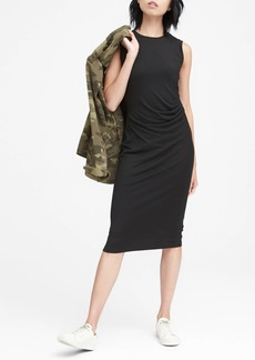 Banana Republic Cozy Knit Ruched-Side Sheath Dress