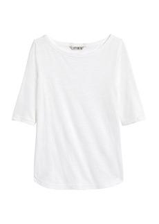 Banana Republic Cozy Slub Boat-Neck T-Shirt