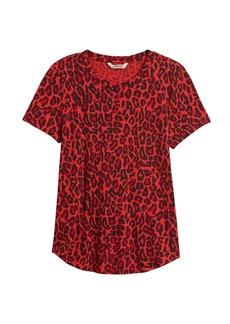 Banana Republic Slub Cotton-Modal Print T-Shirt