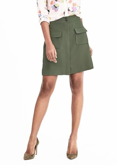 Banana Republic Crepe Military Skirt