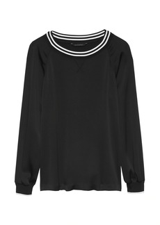 Banana Republic Crepe Varsity Top