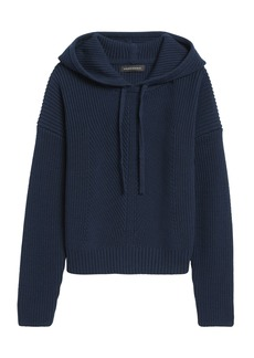 Banana Republic Cropped Sweater Hoodie