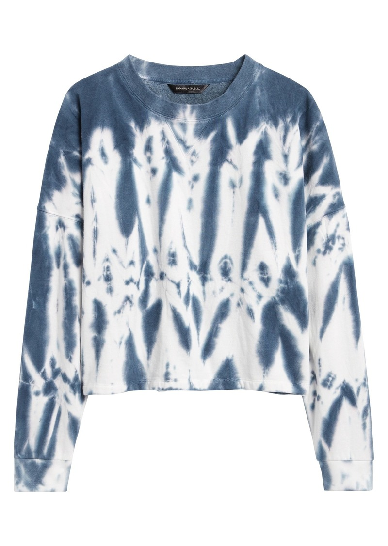 Banana Republic Cropped Tie-Dye Sweatshirt
