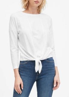 Banana Republic Cropped Tie-Front T-Shirt