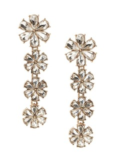 Banana Republic Crystal Floral Linear Earring