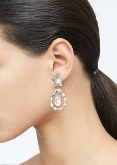 Banana Republic Crystal Pearl Statement Earrings