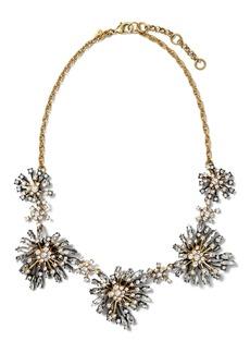 Banana Republic Crystal Starburst Necklace
