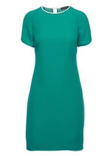 Curved-Hem Dress with Piping