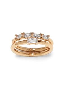 Banana Republic Delicate Baguette Stack Rings