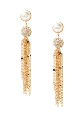 Banana Republic Delicate Pavé Ball Fringe Earrings