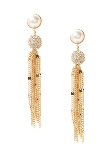 Banana Republic Delicate Pavé Ball Fringe Earring