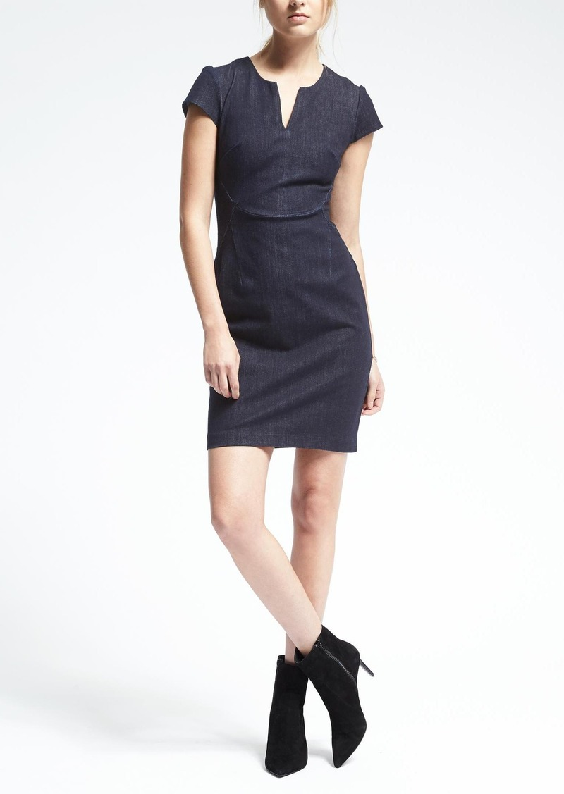 Banana Republic Denim Angled Seam Dress