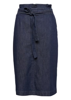 Banana Republic Denim Belted Pencil Skirt