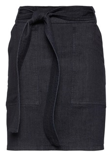 Banana Republic Denim Belted Utility Mini Skirt