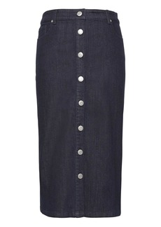 Banana Republic Denim Button-Front Pencil Skirt