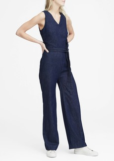 Banana Republic Denim Tie-Waist Jumpsuit