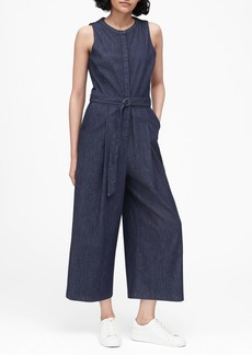 Banana Republic Denim Wide-Leg Cropped Jumpsuit