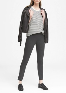 Banana Republic Devon Legging-Fit Machine-Washable Heathered Bi-Stretch Ankle Pant