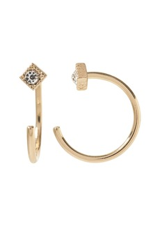 Banana Republic Diamond Open Huggie Hoop Earring