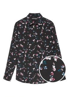 Banana Republic Dillon Classic-Fit Floral Washable Silk Shirt