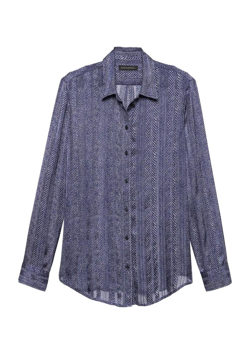 4199edbf6c4 Banana Republic Dillon Classic-Fit Herringbone Shirt