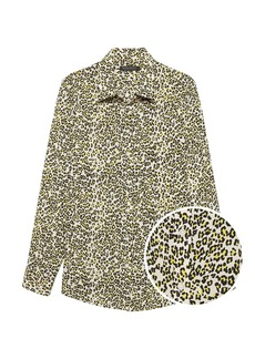 Banana Republic Dillon Classic-Fit Leopard Print Shirt