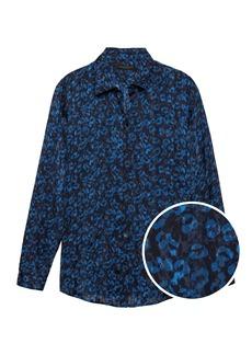 Banana Republic Dillon Classic-Fit Leopard Print Soft Shirt