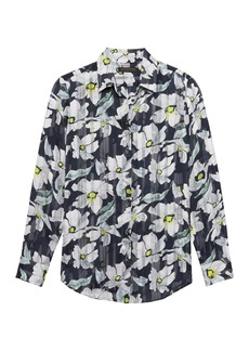 Banana Republic Dillon Classic-Fit Sheer Floral Stripe Shirt