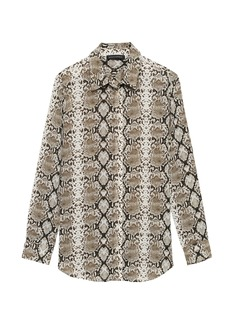Banana Republic Dillon Classic-Fit Snake Print Shirt
