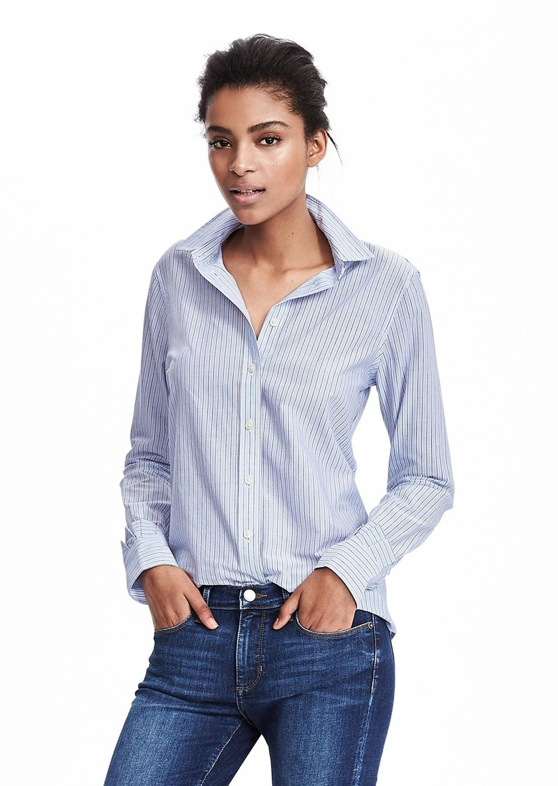 Banana Republic Dillon-Fit Classic Ruffle Cuff Shirt
