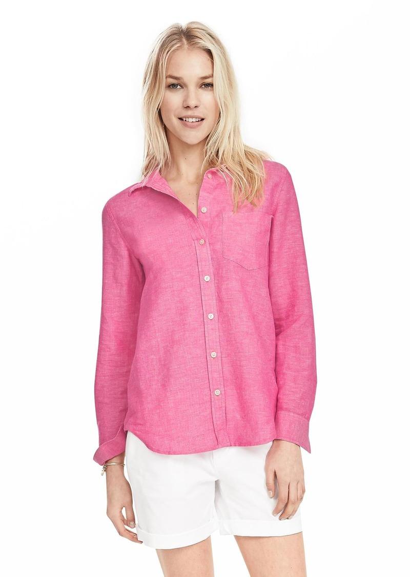 Banana Republic Dillon-Fit Linen/Cotton Shirt
